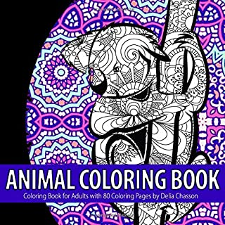 Animal Coloring Book: Coloring Book for Adults with 80 Coloring Pages