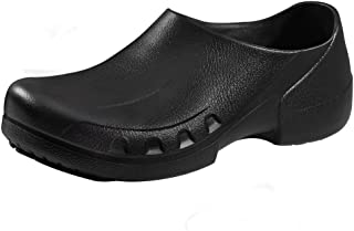 YOWESHOP Slip Resistant Chef Clogs for Kitchen Non Slip Work Mule Shoes for Men Black