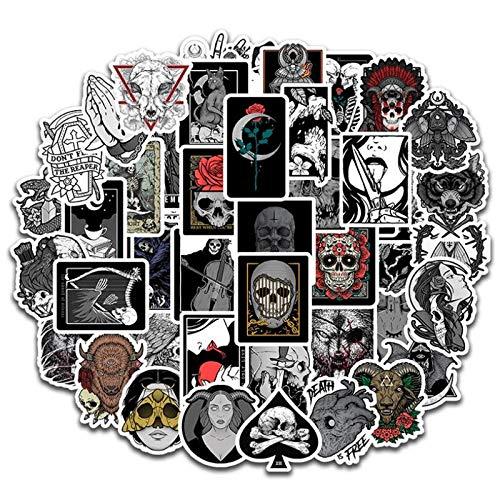 WUWEI Etiqueta engomada gótica del casco del graffiti del teléfono móvil de la cámara digital impermeable del ordenador 50PCS