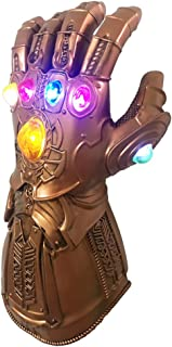 baellerry Thanos Infinity Gauntlet LED Light Up PVC Glove Cosplay Prop Costume