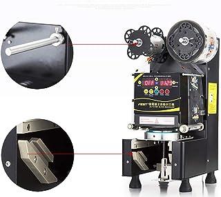 MXBAOHENG カップシール機カップシーラー口径88/90/95/75mm 自動 カップシール機カップシール機 デジタル制御 400-600カップ/時 お茶・コーヒー・ジュース タピオカミルクティー豆乳 など業務用110V (黒い)