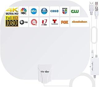 2021 Más Nuevo Antena de TV Interior,240KM Rango Amplificador de Señal Inteligente Antena de TV Digital para Interiores Ca...