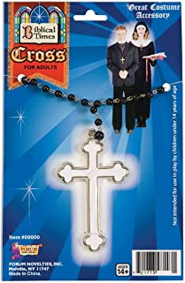 Forum Novelties White Cross Necklace