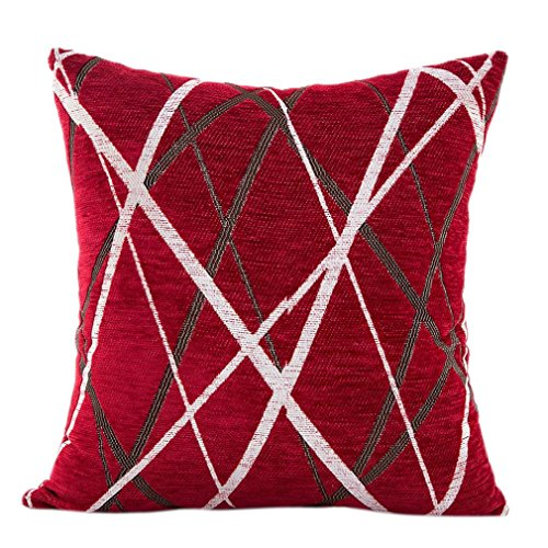 Mamum Housse de Coussin Décoration Maison Chambre Salon pour Canapé Décoratif 42x42cm (Rouge)