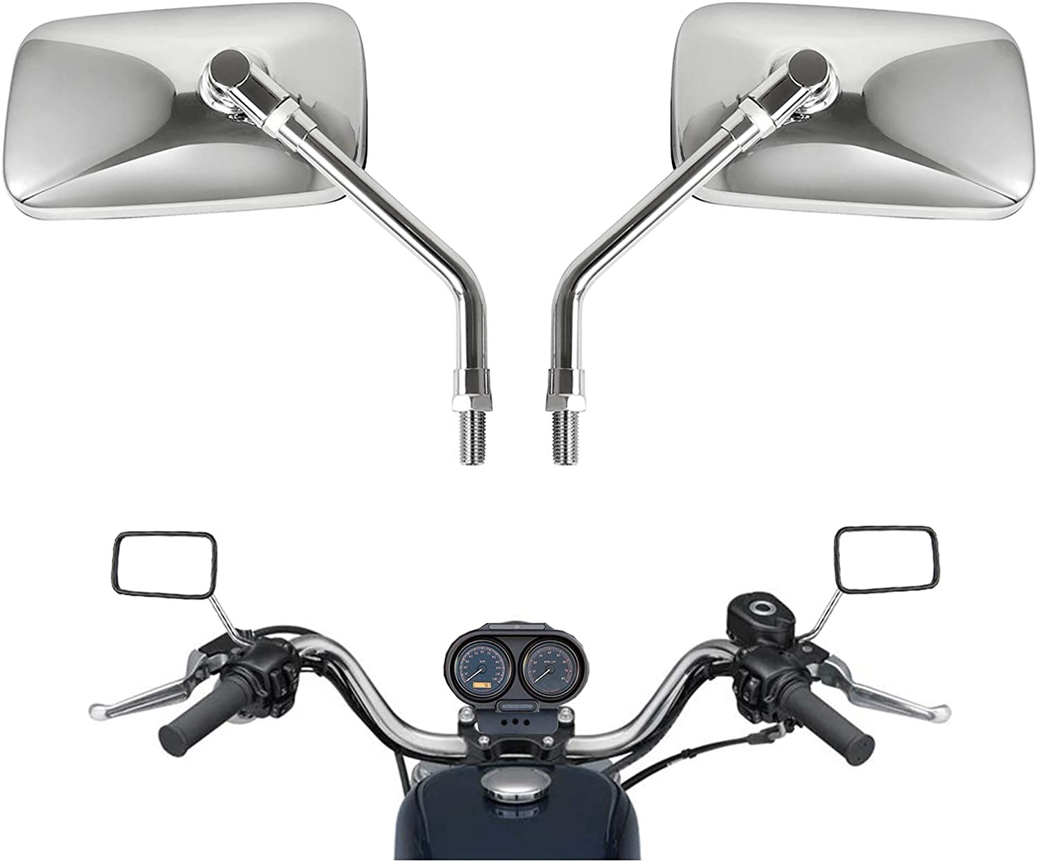 10 mm Bolt Chrome Motorcycle view Limited time for free Fashionable shipping Universal Rear Handlebar Side