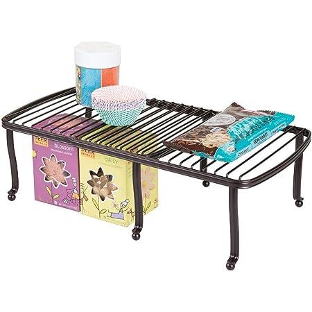 mDesign étagère pour assiettes – étagère de cuisine pour le plan de travail, le buffet de cuisine et le placard – rangement de vaisselle qui économise l'espace dans la cuisine – bronze