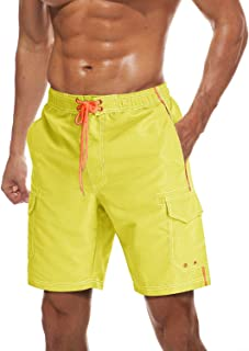 EKLENTSON Men's Shorts Summer Beachwear Mesh Lining Swim Trunks Board Water Shorts Quick Dry with 4 Big Pocket