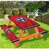 LEWIS FRANKLIN - Cortina de ducha americana de lujo para picnic, mantel de tres estrellas Unity Tennessee, con borde elástico, 28 x 72 pulgadas, juego de 3 piezas para mesa plegable