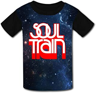 Gujigur Kids T Shirt,Fashion Soul Train Red Logo Short Sleeves Youth Print Summer Tee Creative Casual for Boys Girls