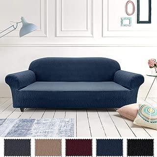 jinchan Spandex Sofa Slipcover - Rio, Polyester & Polyester Blend, Navy, Sofa
