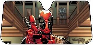 Plasticolor 003711R01 Marvel Deadpool Thumbs Up Accordion Sunshade