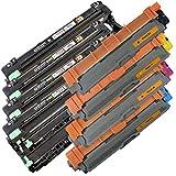 4x Toner IBC + 4x IBC de carga para Brother DCP de 9015CDW/DCP de 9017DCP de 9022CDW/DCP 9020CDW/1