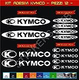 Pimastickerslab Aufkleber Stickers KYMCO -Motorrad- Cod. 0610 (Bianco cod. 010)