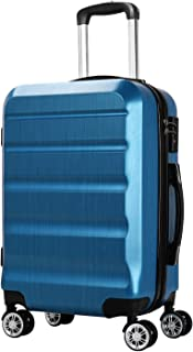 WING Carry on Luggage Lightweight Suitcase PC+ABS Spinner Built-in TSA Lock 20in Double Wheels City Fashion