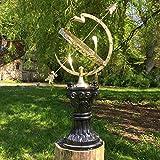 Antikas Astrologische Sonnenuhr für den Außenbereich | Gesamthöhe 97 cm | Garten-Deko im Landhausstil