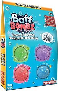 Zimpli Kids Baff Blast 4 Bath Pack Box, 140 gm
