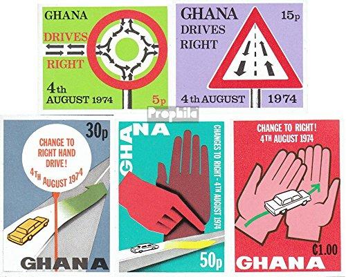 Ghana 572B-576B (complète.Edition.) 1974 Rechtsverkehr (Timbres pour Les collectionneurs) Circulation routière