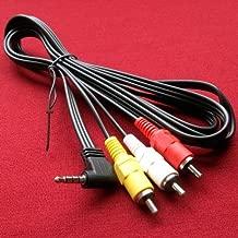 Sony Handycam DCR-TRV260, DCR-TRV260/e Camcorder Compatible AV A/V TV-Out Audio Video Cable/Cord/Lead - 5 Feet Black - Bargains Depot
