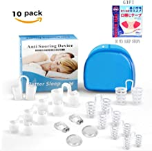 Clipple Silicone Magnetic Anti Snore Clip (2019 Latest), 10 Packs Anti Snoring Devices, 30 Pcs Sleep Strips,Perfect Fit Snore Stopper, Effective Snoring Solution, Tape Closed Mouth to Stop Snoring