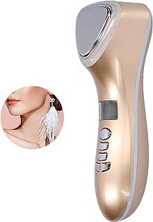 Amecty Elektrisch gezichtsmassageapparaat, koud-/warmtecompressiemodus, schoonheidsmachine, draadloos, bevordert absorptie...