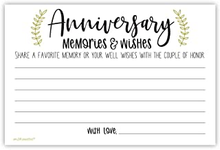 Laurel Anniversary Memories and Wishes Cards (50 Count)