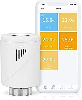 Válvula Termostática Inteligente Meross, Termostato de Calefacción, M30*1,5MM, Compatible con Alexa, Google Assistant e IF...