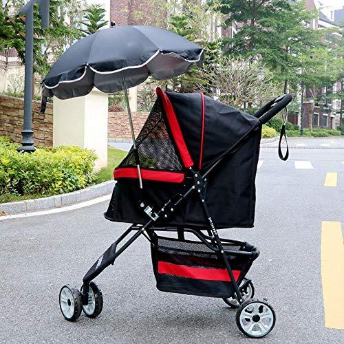Lozse Huisdier Kinderwagen Hond Pushchair Zon Paraplu Trolley Anti-UV zonnescherm paraplu, A