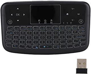 Wireless Keyboard Touch Pad, Mini Touch Flat Backlight 2.4G Keyboard Button, Wireless Keyboard Left and Right Mouse Keys (Black)