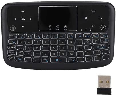 Kabelloses Tastatur-Touchpad Flache Mini-Touch-Hintergrundbeleuchtung 2 4-G-Tastaturtaste kabellose Tastatur Linke und rechte Maustaste schwarz Schätzpreis : 11,19 €