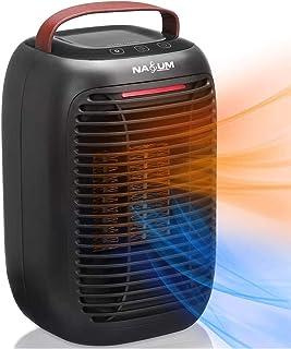 NASUM Calentador Eléctrico Portátil/Calentador de Ventilador, Fácil de Calentar/Sin Fuego/Seguro y Respetuoso con el Medio...