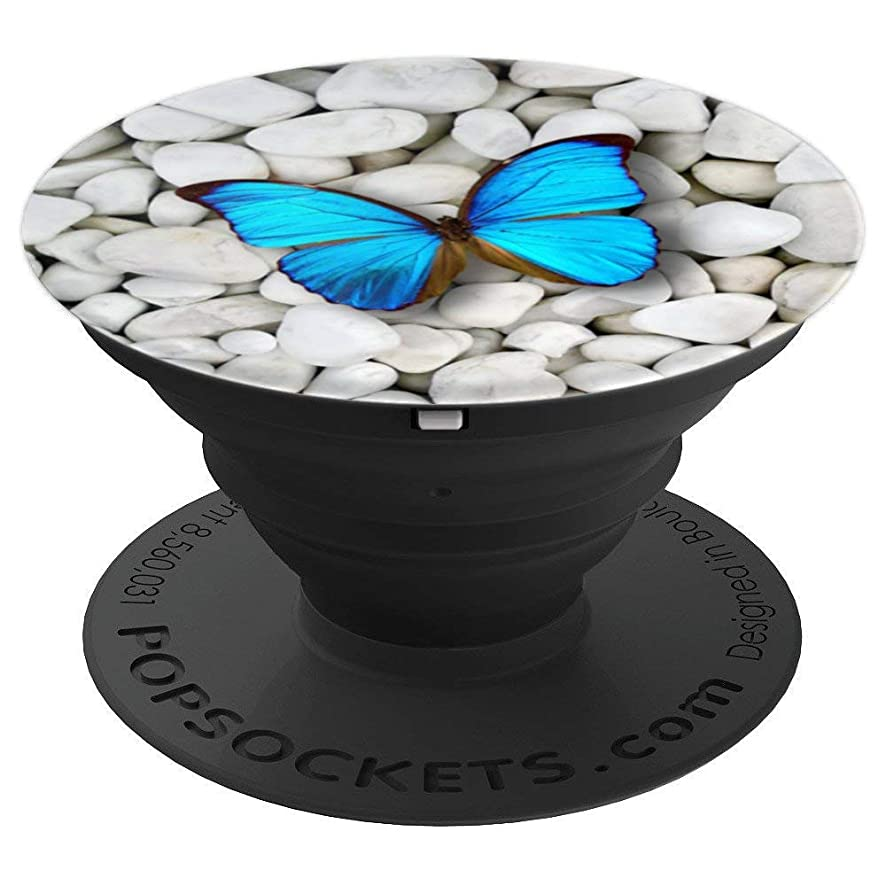Butterfly Love Monarch Blue Butterflies Awareness Great Gift - PopSockets Grip and Stand for Phones and Tablets