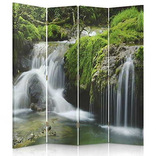 Feeby Frames Paravent Toile déco Nature Image 1 Face 4 pans Vert 145x150 cm