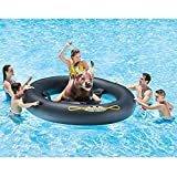 """Bull Adult Inflat-A with PUMP, Mechanical Inflatable Lake River Pool Beach Floaties Floats Ride On Pool Toy, 96"""" X 77"""" X 32"""" BUNDLE OF 2"""