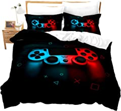 Boys Gamepad Comforter Cover Twin Size,Play Gamer Bedding Set Kids Young Man Video Games Duvet Cover for Teen Child Game R...