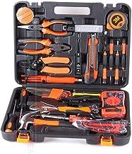 YUIOLIL Kit de Herramientas de reparación Juego de Mano de Electricista de 35 Piezas, Destornillador de Sierra para el hogar, Martillo, Cinta métrica, alicates