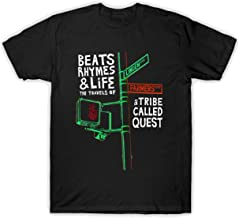 TAIDao Men's A Tribe Called Quest -Beats, Rhymes, Life- Graphic Design Funny Tshirt White