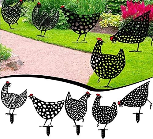 YONIK ガーデンオーナメント 鶏 5枚セット