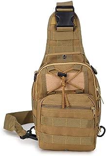 حقيبة ظهر تكتيكية بحزام طويل يمر بالصدر ومقاس صغير وتصميم عسكري للرجال