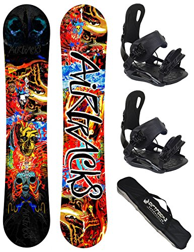 Airtracks Snowboard Set - Board Another World Wide 153 - Softbindung Master M - SB Bag