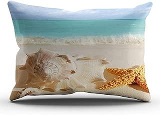 XIAFA Home Custom Pillowcase Sea Shell Seashell Clam Beach Simple Decorations Sofa Throw Pillow Case Cushion Cover One Sided Printed Design King 20X36 Inch (Set of 1)