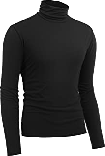 ZEGOLO Men's Casual Basic Tops Knitted Long Sleeve Turtleneck Pullover Sweaters