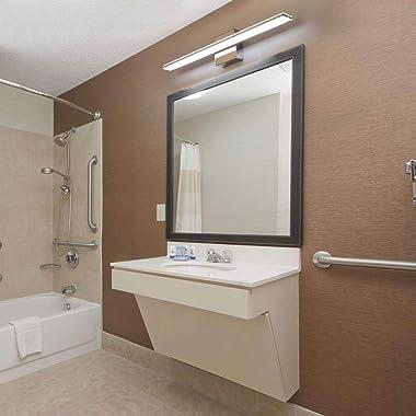 LED Vanity Lights, BRIVOLART 24 Inch 14W Cool White 6000K LED Bathroom Bedroom Vanity Light Fixtures Modern Chrome Bathroom V