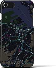 【小倉】地図柄iPhoneケース(バックカバータイプ・ブラック)iPhone 8 / 7 / 6s / 6 用 <全国300以上の品揃え> シンプル おしゃれ 大人 個性的 耐衝撃素材のiPhoneカバー(アイフォンケース アイフォンカバー スマホケース スマホカバー)