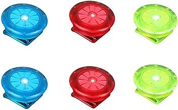 Milai LED Sicherheitslicht Clip für Läufer Hunde Fahrräder Kinderwagen Kinder Walker Outdoor,Blinklicht mit hoher Sichtbarkeit,Sicherheits Clip-On LED Blinklicht 6 Stück