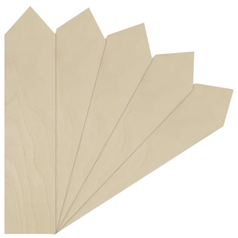 Paquete De 10 placas rectangular de madera de calidad sin pintar con 3 o 4 Corazones Colgante