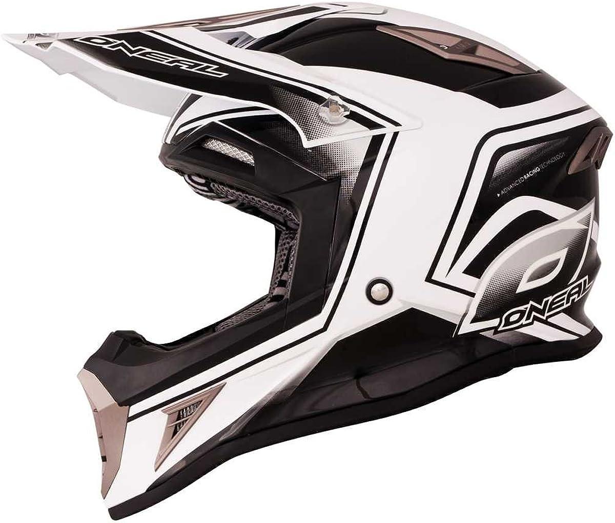 O Neal Oneal 10 Series Cahuilla Creek Mx Helm Farbe Schwarz Weiss Größe S 55 56 Bekleidung
