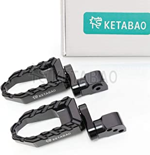KETABAO 25mm Adjustable Wide Black BUZZ Rear Foot Pegs For MV Agusta 750 Brutale + 910 R S Brutale + F4 1000 2007+