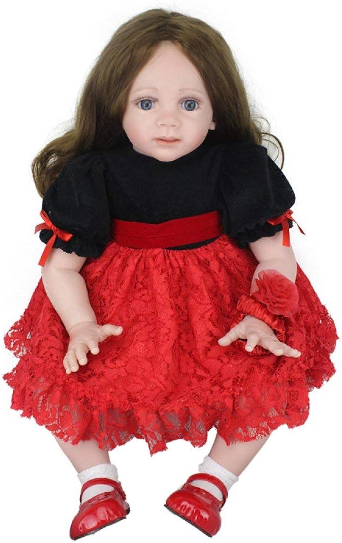 HSDDA Doll Pillow Reborn Baby Dolls Handmade Lifelike Realistic Silicone Vinyl Baby Doll Soft Simulation 22 Inch 56 Cm Eyes Open Girl Favorite Gift Cartoon Plush Pillow