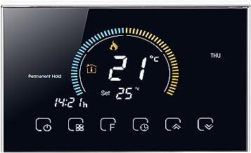 Thermostat portable, pas facile à endommager Thermostat intelligent pour bureau pour chambre(BHT-8000GA-noir, Traduire)