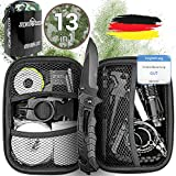 Jungle Monkey® Premium Survival Kit [13er Set] - [NEU 2020] - Mit hochwertigem Messer -...